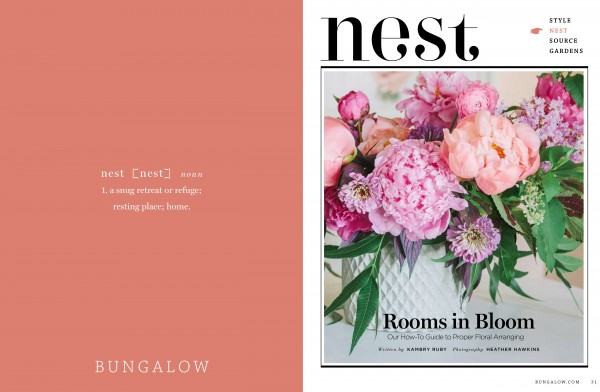 Bungalow Magazine Flowers